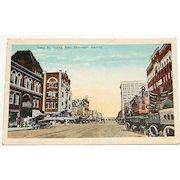 Texas Street Looking East, Shreveport, La. Postcard