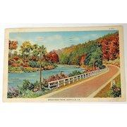 1942 Greetings From Leesville, La. Postcard