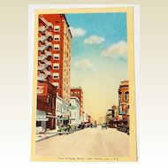 Vintage Postcard Ryan Street Lake Charles Louisiana