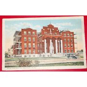 Vintage 1917 Postcard Hotel Dieu Hospital Beaumont Texas