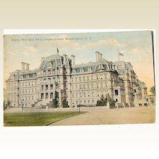 Vintage State War And Navy Departments Washington D. C. Postcard