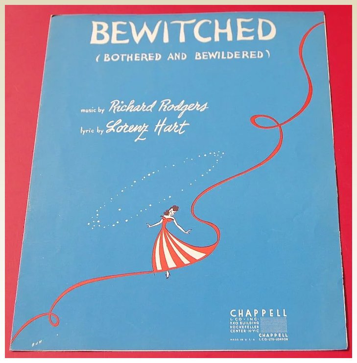 Vintage 1941 Sheet Music Bewitched Bothered And Bewildered Best Kept Secrets