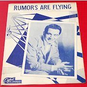 1946 Vintage Sheet Music Rumors Are Flying Perry Como