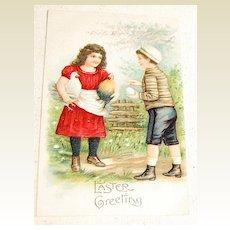 Embossed Vintage Easter Greeting Postcard