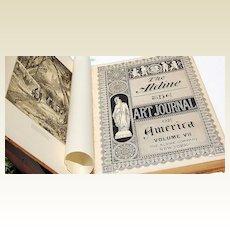 RARE The Aldine, The Art Journal Of America Volume VII  I874-75 1ST Edition