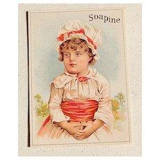 Victorian Soapine Trade Card