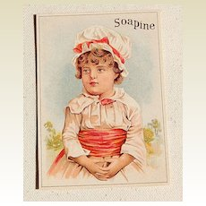 Victorian Soapine Trade Card