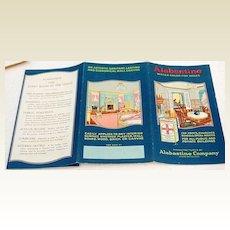 Vintage Alabastine Company Water Color For Walls Brochure