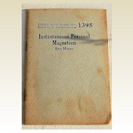 1920's-1930's Little Blue Book No.1395 Instantaneous Personal Magnetism Ben Moore