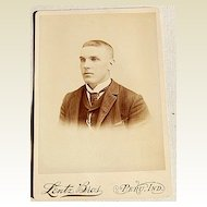 Victorian Antique Cabinet Photo Card Young Man Robert T. Simons