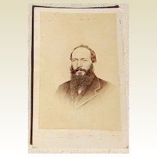 Victorian Cabinet Card Man With A Beard