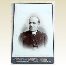 Victorian Antique Cabinet Photo Young Man