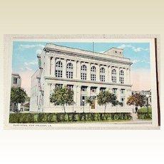 Vintage Postcard Elks Home New Orleans Louisiana