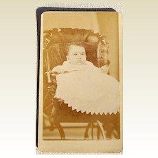 Victorian Antique Cabinet Photo Baby
