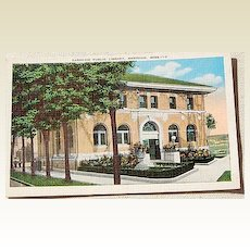 Vintage Postcard Carnegie Public Library Meridian Mississippi