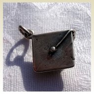 Vintage Sterling Silver Graduation Charm