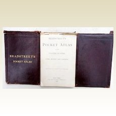 Rare 1899 Bradstreet's Pocket Atlas of US Cuba Mexico & Canada