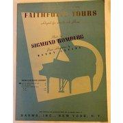 Vintage Faithfully Yours Sheet Music