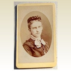 Victorian Antique Cabinet Photo Lady Springfield, Mass.
