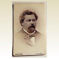 Victorian Antique Cabinet Photo Card  Man Holyoke, Mass.