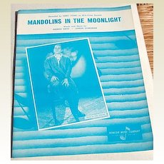 """1950's Vintage Sheet Music """"Mandolins In The Moonlight"""" Perry Como"""