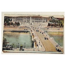 World War 1 French Post Card Paris Soldiers Mail