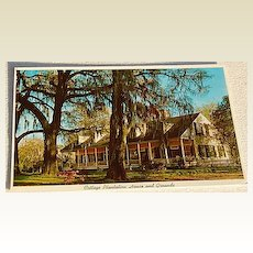 Vintage Post Card Cottage Plantation House & Grounds St. Francisville, Louisiana