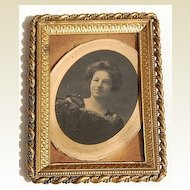 Victorian Ornate Twisted Border Brass Frame