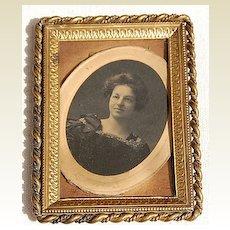 Victorian Ornate Twisted Border Brass Frame