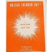 """1950 Vintage Sheet Music """"Orange Colored Sky!"""""""