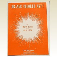 "1950 Vintage Sheet Music ""Orange Colored Sky!"""