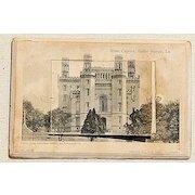 Rare 1907 Souvenir Fold Out Mail Card Baton Rouge Louisiana