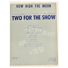 "1950 Vintage Sheet Music ""How High The Moon"""