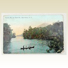 1911 Antique Paradise Bay & Black Mt., Lake George, N. Y. Postcard