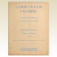 1940 Stephen Foster Favorites Beautiful Dreamer