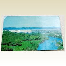 Vintage Ozark Playground Series Table Rock Dam Postcard