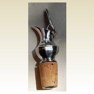Vintage Silver Tone Metal Liquor Pourer
