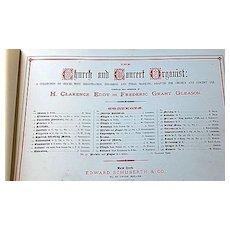 1881 The Church & Concert Organist Sheet Music Book