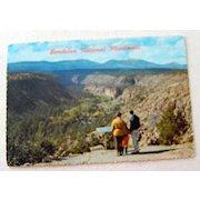 Vintage Post Card Bandelier National Monument  Santa Fe Los Alamos New Mexico
