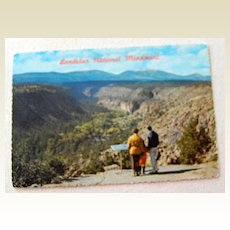 Vintage Post Card Bandelier National Monument  Santa Fe Los Alamos New Mexico
