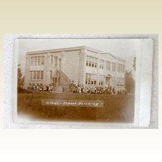 1915 Kinder Louisiana School Building Postcard