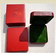 Vintage Red Jewelry Presentation Display Box