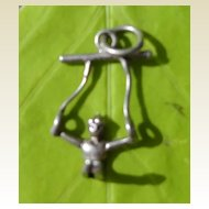 Vintage Sterling Silver Gymnastic Sports Charm