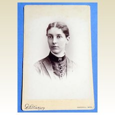 Victorian Cabinet Card Haverhill Mass Lady