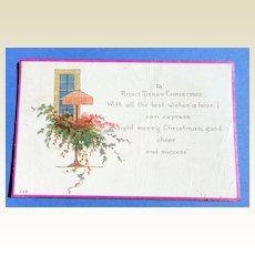 Art Deco Christmas Postcard