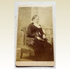 Victorian Cabinet Card Full Figure Woman