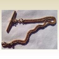 Vintage 8 K Gold Watch Chain