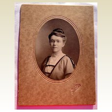 Vintage Cabinet Card Young Lady