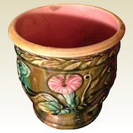 Antique Victorian French Majolica Planter
