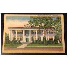 Vintage Alexandria Louisiana Colonial Home Postcard